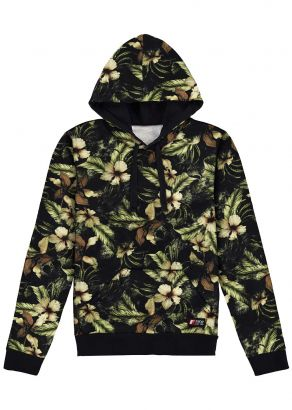 Jaqueta Blusão Infantil Masculino Inverno Verde Floral Fico