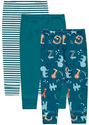 Body Infantil Masculino Inverno Kit 3 Verde Bichinhos. - Kiko e Kika