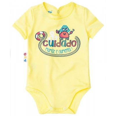 Body Infantil Amarelo Cuidado: Mamãe é ciumenta Zig Zig Zaa