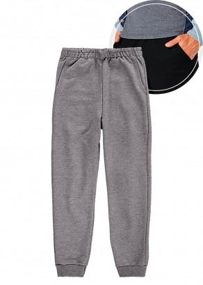 Calça De Moletom Infantil Jogger com Punho e Bolso Cinza Escuro Malwee