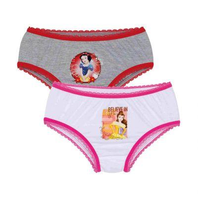 Calcinha Infantil Kit 2 Princesas Disney Lupo
