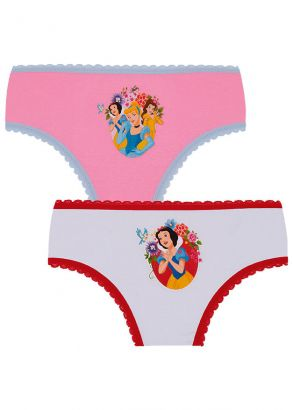 Kit 2 Calcinhas Infantil Princesas Disney Lupo