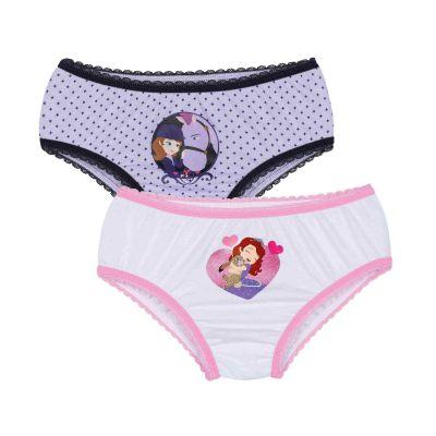 Calcinha Infantil Kit 2 calcinhas Sofia Lupo