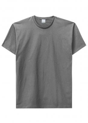 Camiseta ADULTO Masculina Verão Cinza Malwee