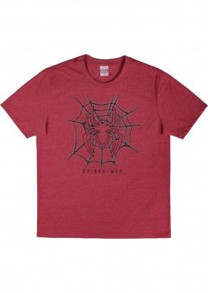 Camiseta Adulto Masculina Verão Vermelha Spiderman Cativa