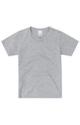 Camiseta Infantil Cinza Mescla Masculina Malwee
