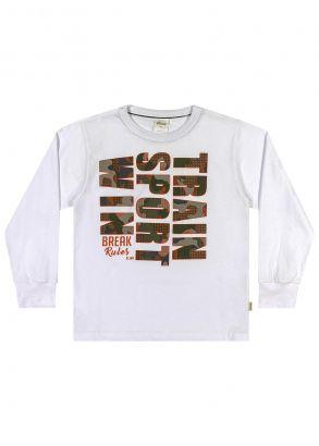 Camiseta Infantil Inverno Branca Sport Elian