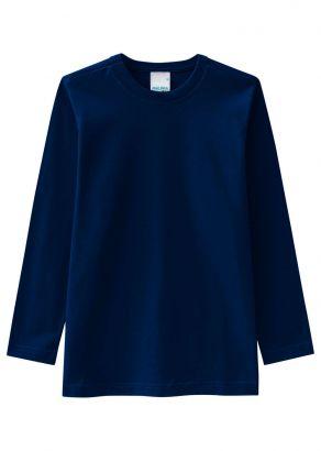 Camiseta Infantil Masculina Inverno Azul Malwee
