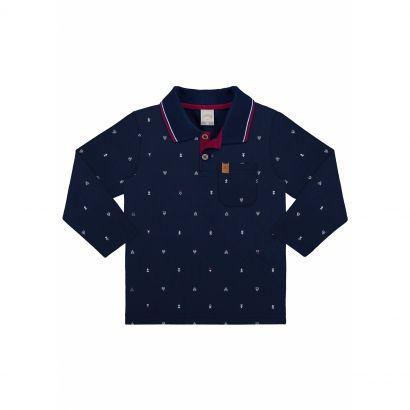 Camiseta Infantil Masculina Inverno Azul Replay Alakazoo