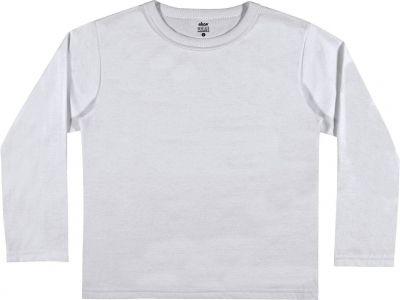 Camiseta Infantil Masculina Inverno Branca Elian