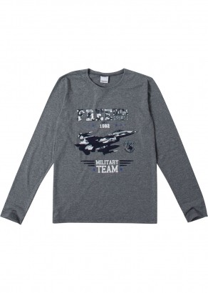 Camiseta Infantil Masculina Inverno Cinza Freedom - Malwee