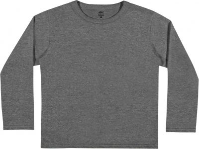 Camiseta Infantil Masculina Inverno Cinza Mescla Escuro Elian