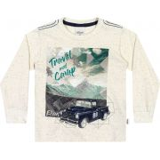 Camiseta Infantil Masculina Inverno OffWhite Travel Elian