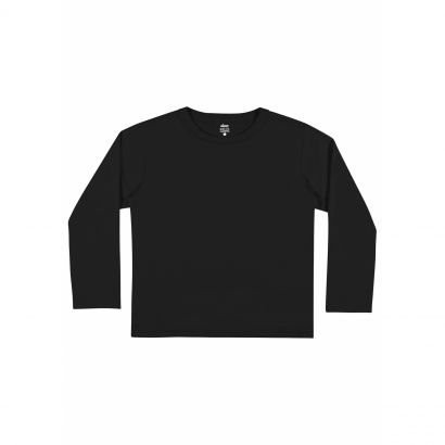 Camiseta Infantil Masculina Inverno Preta Elian