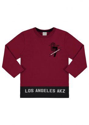 Camiseta Infantil Masculina Inverno Vermelha Authentic Alakazoo