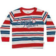 Camiseta Infantil Masculina Inverno Vermelha Speed Racer Elian