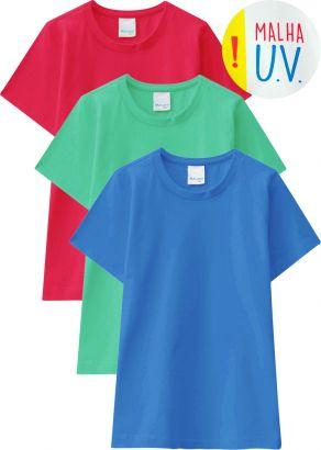 Camiseta Infantil Masculina Kit 3 Verão Malwee