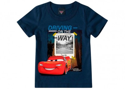 Camiseta Infantil Masculina Marinho Carros Malwee