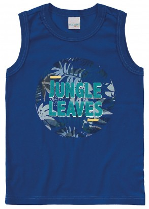 Camiseta Infantil Masculina Verão Azul Jungle Malwee