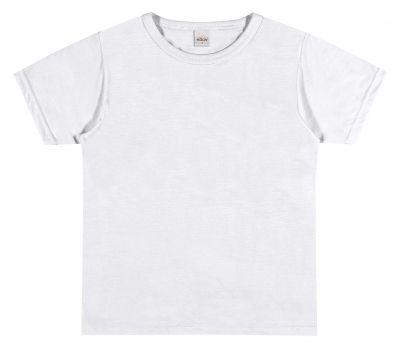 Camiseta Infantil Masculina Verão Branca Elian