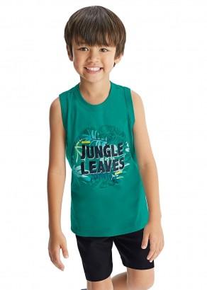 Camiseta Infantil Masculina Verão Verde Jungle Malwee
