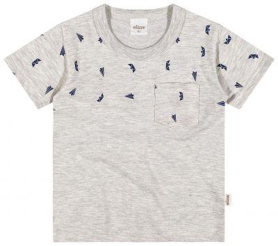 Camiseta Infantil Masculina Mescla OffWhite Aviões Elian
