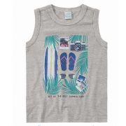 Camiseta Infantil Verão Cinza Mescla Summer Malwee