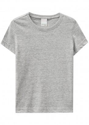 Camiseta Infantil Verão Cinza Resistente a Água Malwee