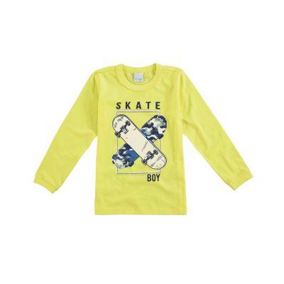 Camiseta Infantil Masculina Inverno Verde Skate Boy Malwee