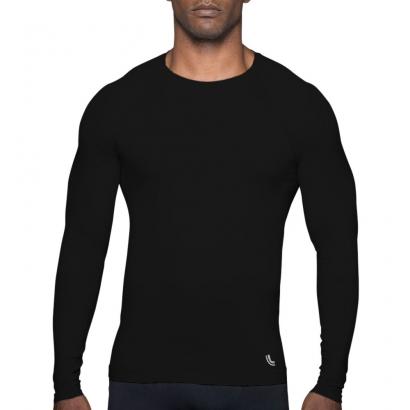 Camiseta Masculina Térmica Lupo Advanced Sem Costura Preta - Lupo