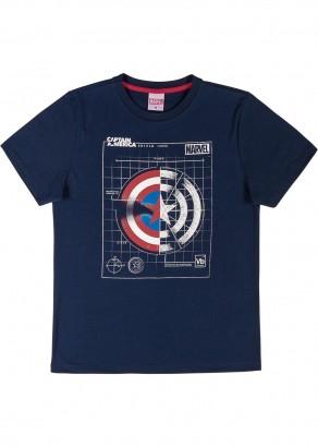Camiseta Teen Masculina Verão Azul Capitão Améria Cativa