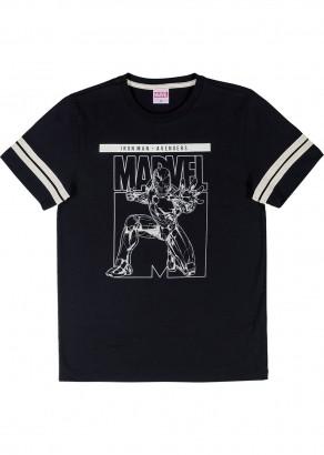 Camiseta Teen Masculina Verão Preta IRONMAN Cativa