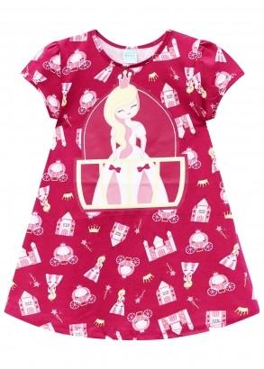 Camisola Infantil Magenta Princess - Kyly