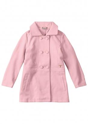 Casaco Infantil Feminino Inverno Rosa Elegance - Carinhoso