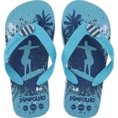 Chinelo Infantil Masculino Azul Surf Pimpolho