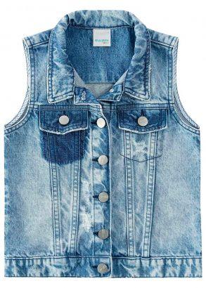 Colete Infantil Feminino Inverno Azul Jeans Malwee