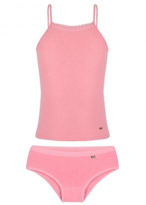 Calcinha Infantil + Blusa Rosa Lupo