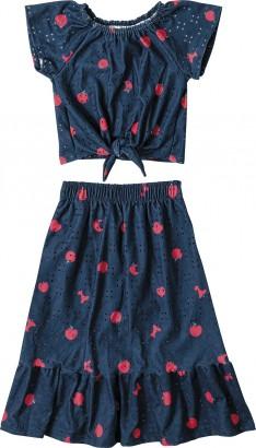 Conjunto Feminino Verão Azul Apple Malwee