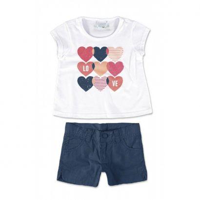Conjunto Infantil Feminino Branco Love Malwee