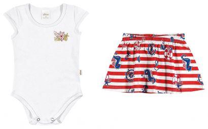 Conjunto Infantil Feminino Branco Navy Elian