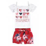 Conjunto Infantil Feminino Branco The Summer Malwee