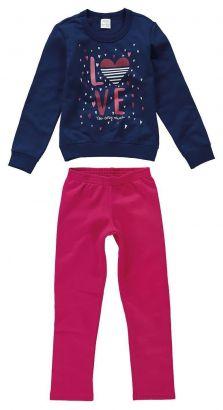 Conjunto Infantil Feminino Inverno Azul Marinho Love Malwee