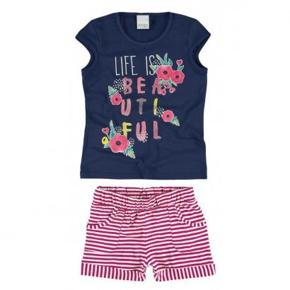 Conjunto Infantil Feminino Life is Beautiful Malwee