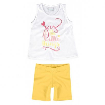 Conjunto Infantil Feminino Branco Little Things Malwee