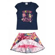 Conjunto Infantil Feminino Azul Marinho Sunshine Malwee