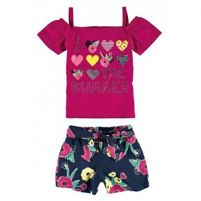 Conjunto Infantil Feminino Rosa The Summer Malwee