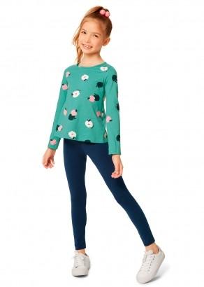 Conjunto Infantil Feminino Inverno Maça Verde Malwee