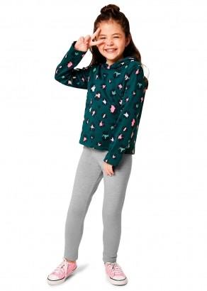 Conjunto Infantil Feminino Verde Estampado Inverno Malwee