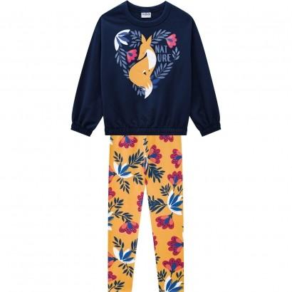 Conjunto Infantil Feminino Azul Inverno Nanai