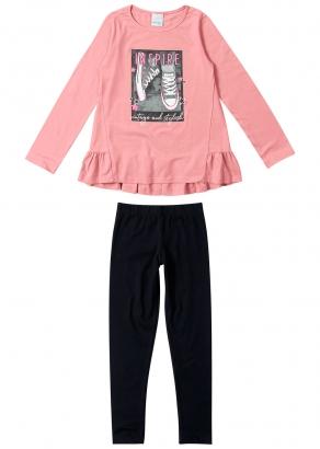 Conjunto Infantil Feminino Inverno Rosa Inspire Malwee